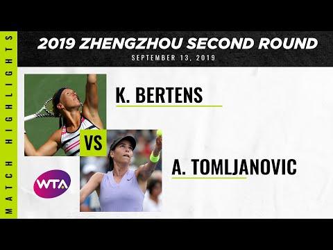 Ajla Tomljanovic  vs. Kiki Bertens| 2019 Zhengzhou Open Second Round | WTA Highlights