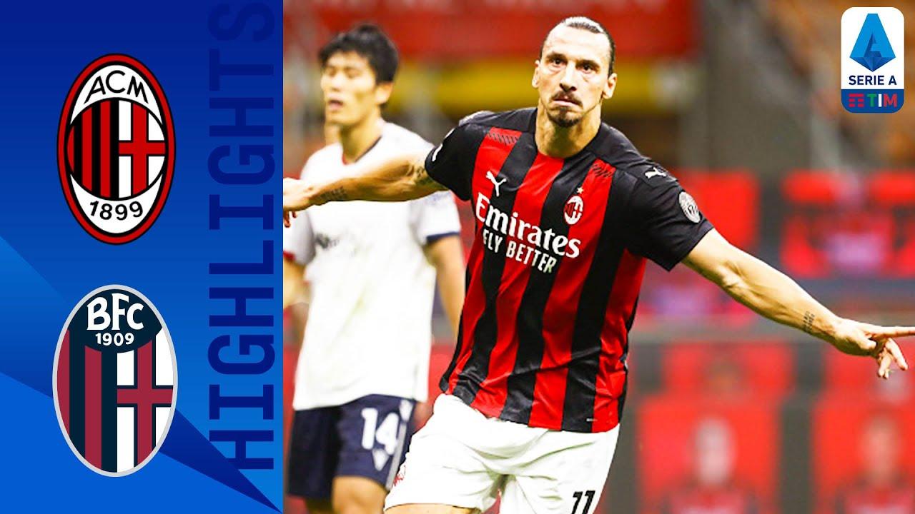 Milan 2-0 Bologna | Una doppietta dell'eterno Ibrahimovic lancia il Diavolo | Serie A TIM