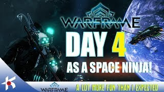 Warframe | MY 4th DAY AS A SPACE NINJA ON PC!