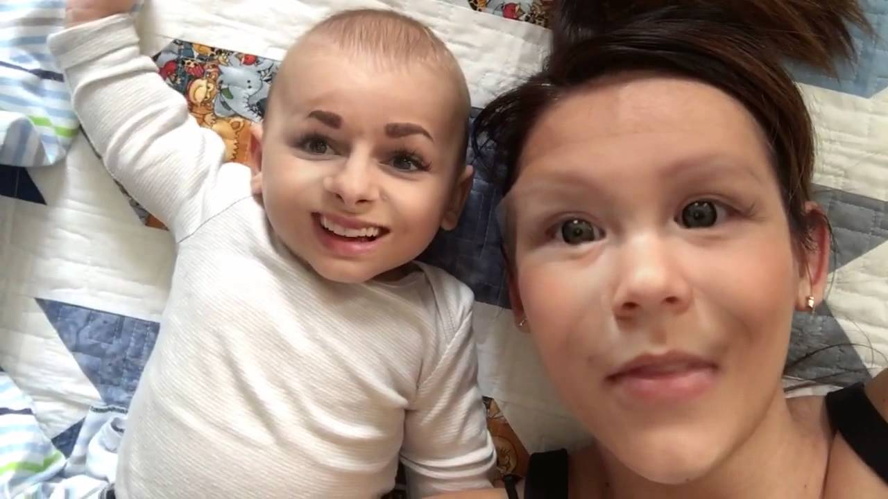 can t stop laughing at baby face swap youtube