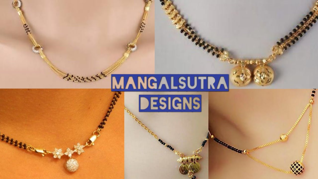 Latest Dailywear Gold Mangalsutra Designs Thali Chain With Black Beads Trendy Shopping Youtube,Mountain Home Designs