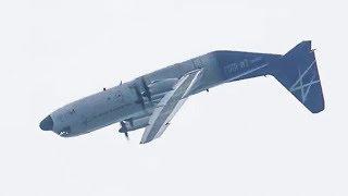 Lockheed Martin LM-100J flight demo today at Farnborough 2018 (including 360 loop!!) #C130 #loop