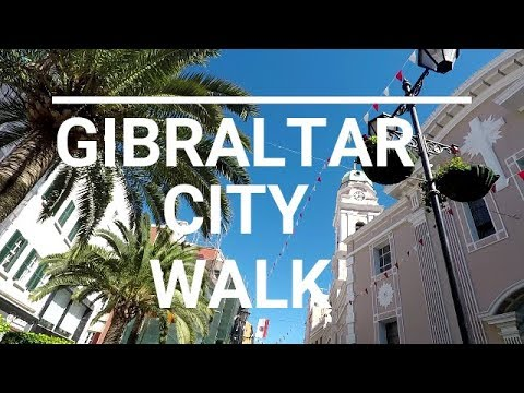 Gibraltar city centre walking tour 2017 September GOPRO 5