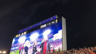 Flyover at the 2017 National Championship Game - Alabama vs Clemson