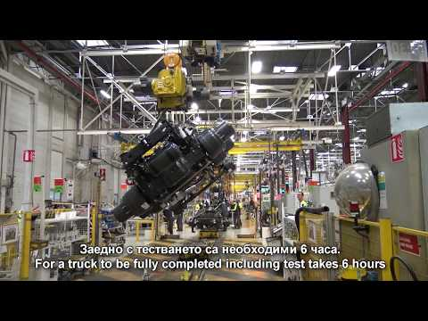KAMIONI magazine in Renault Trucks factory in Bourg en Bresse