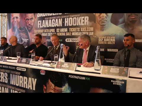 BILLY JOE SAUNDERS v MARTIN MURRAY / TERRY FLANAGAN v MAURICE HOOKER - FULL *UNCUT* PRESS CONFERENCE