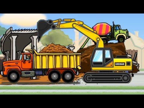 แม็คโคร รถแมคโครตักดินบังคับ  แม็คโครตักดิน รถดั้ม การ์ตูน วีดีโอสำหรับเด็ก Dump Truck Kids