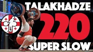 Lasha Talakhadze 220kg Snatch World Record Super Slow Mo (105kg+, Georgia) [4k]