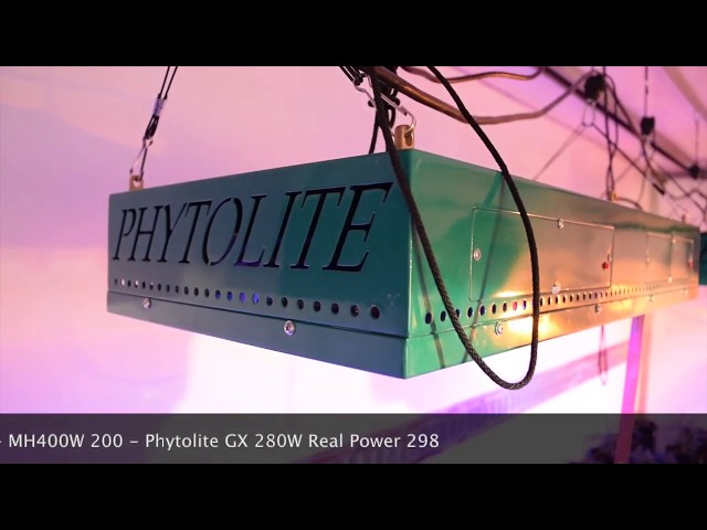 Phytolite Vegetative phase dedicated LED line PAR emissions vs HPS lamp: the comparison