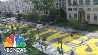 Watch: City Workers Paint 'Black Lives Matter' Mural On Streets Leading To WH | NBC News NOW