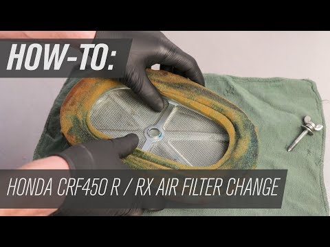 How To Change The Air Filter On A Honda CRF450RX / R