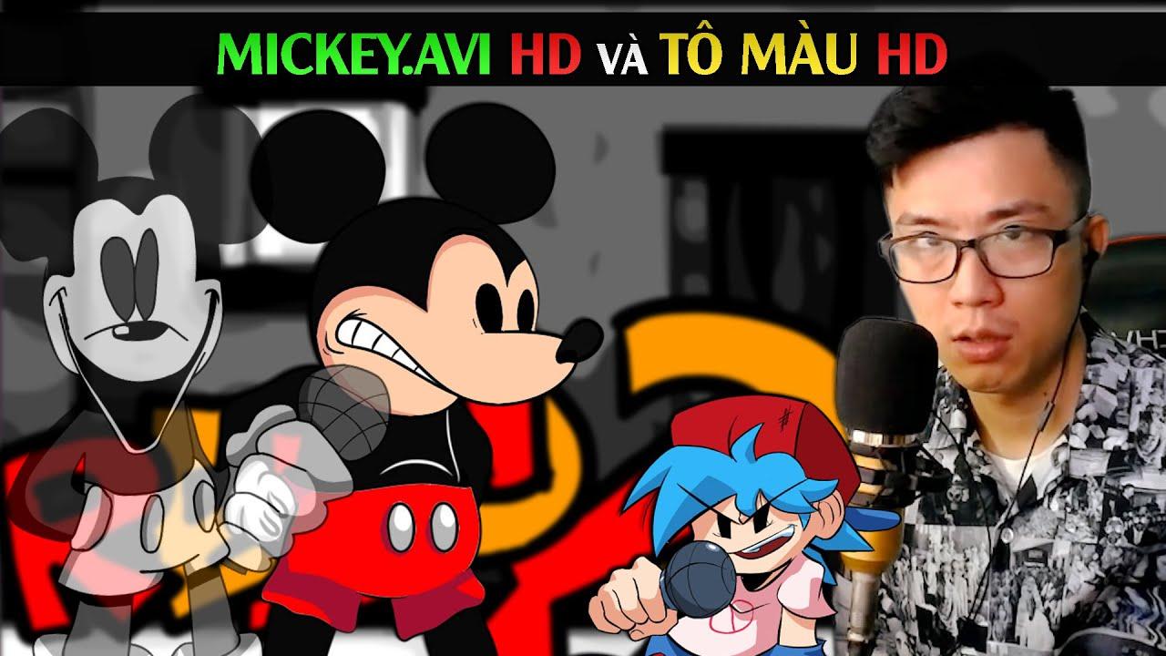 MICKEY.AVI HD VÀ TÔ MÀU HD / Friday Night Funkin Mickey EXE / SpiderGaming 2020