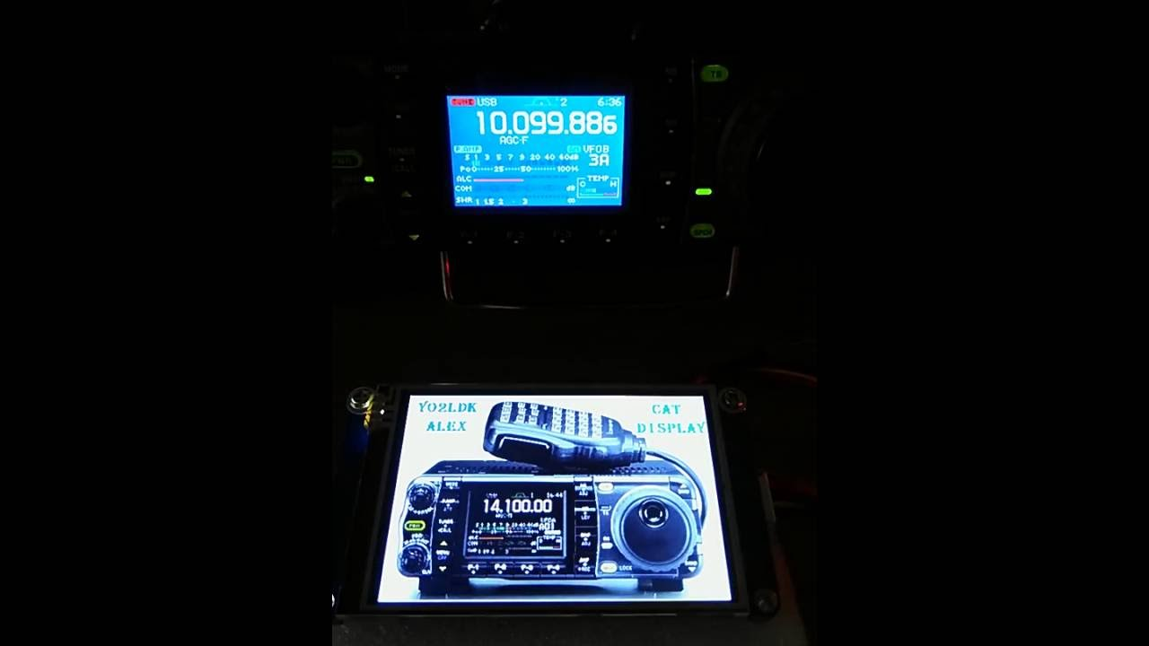 Icom 7000 Radio Transceiver  With Nextion Cat Touchscreen Display Remote