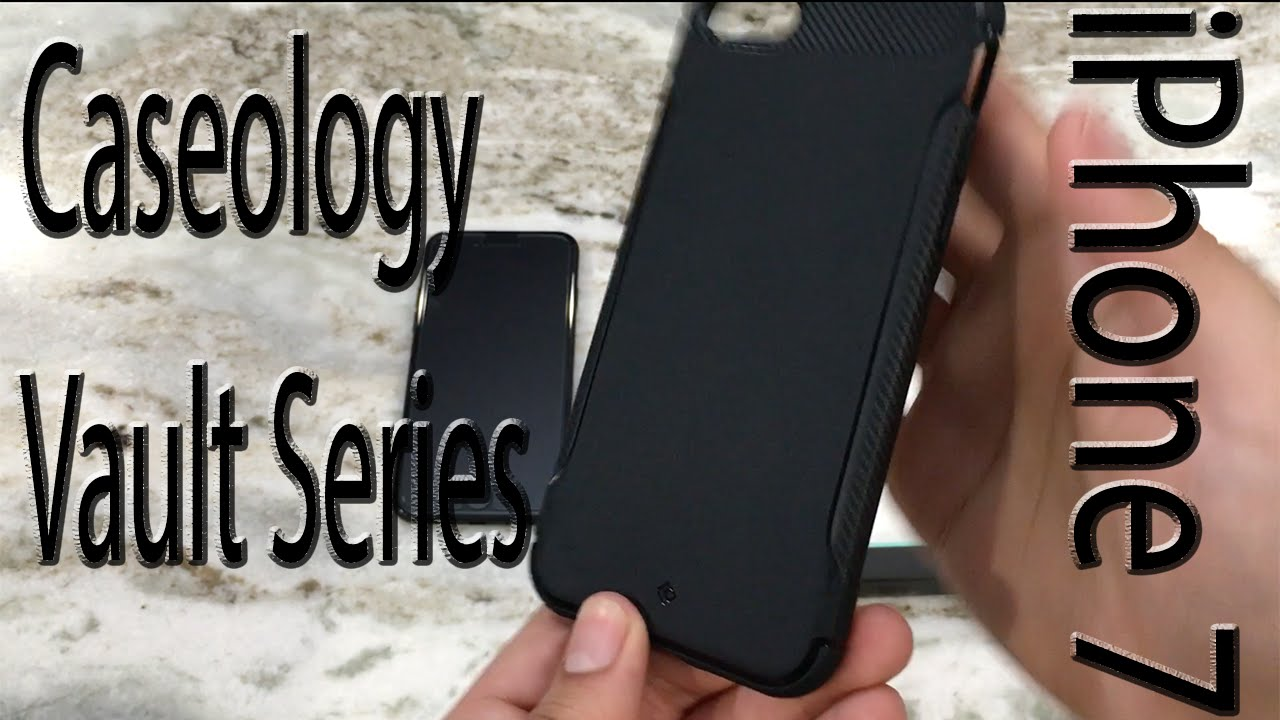 newest b8517 3f481 iPhone 7 Caseology Vault Series Case Matte Black Stealth Armor