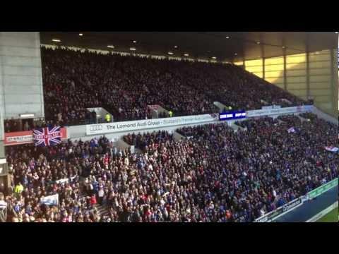Rangers Fc fans singing Follow Follow v Kilmarnock