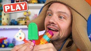 КукуPlay - Мороженное из Пластилина Плей До - Поиграйка с Пилотом