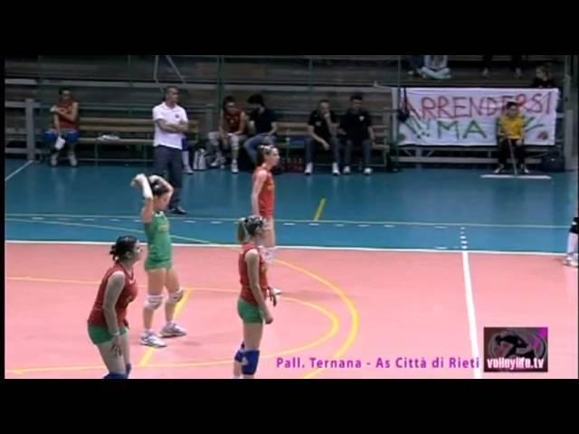Ternana Pallavolo vs Città di Rieti - 1° Set - Serie B2 04.05.13