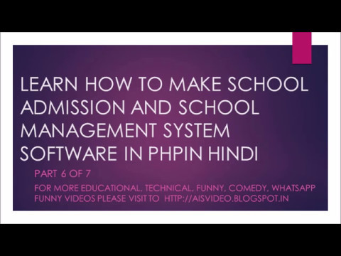 Learn How To Make A Cms School Management System Software In Hindi