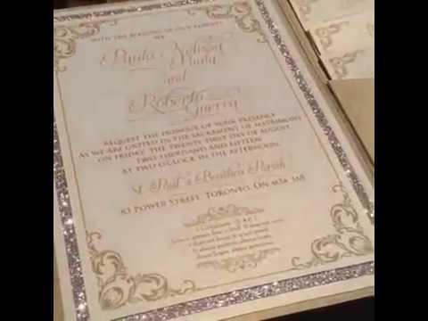 Glitter Pocketfold Wedding Invitation