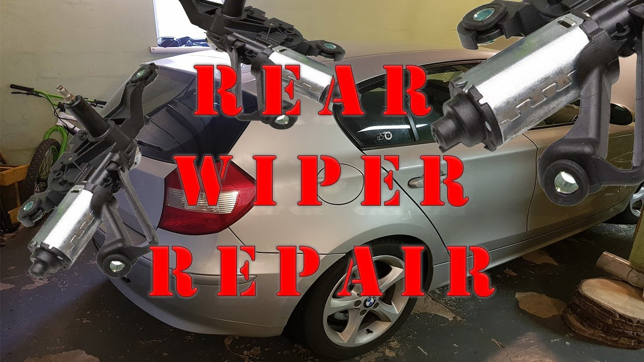 How to fix rear wiper motor for free      BMW 1 SERIES E87 example  YouTube