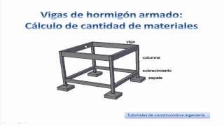 5.- Cálculo de materiales de construcción para vigas de hormigón armado - Metrados TCICH5