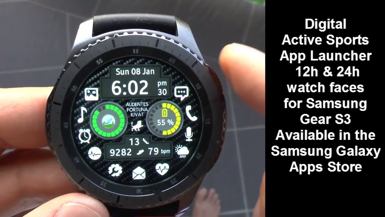 Samsung Gear S3 Digital Sports App Launcher Watch Face