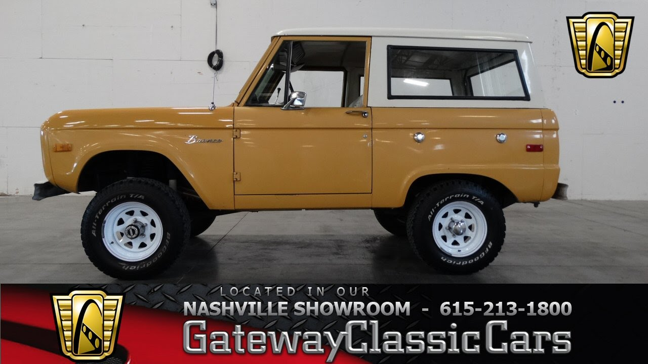 1972 ford bronco gateway classic cars of nashville 36 youtube. Black Bedroom Furniture Sets. Home Design Ideas