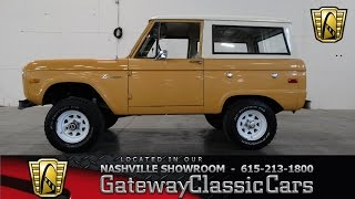 1972 Ford Bronco - Gateway Classic Cars Of Nashville #36