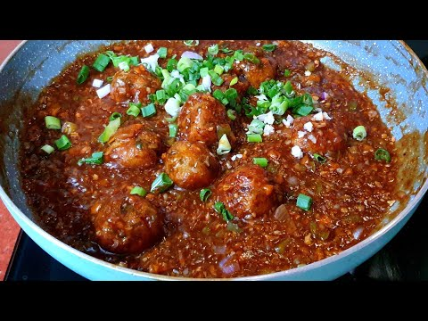 Veg Manchurian Gravy Recipe | Restaurant Style Veg Manchurian Easy Recipe | Cook With Monika