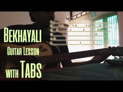 BEKHAYALI Guitar Chords Lesson with intro TABS | Shahid Kapoor | Sachet Tandon