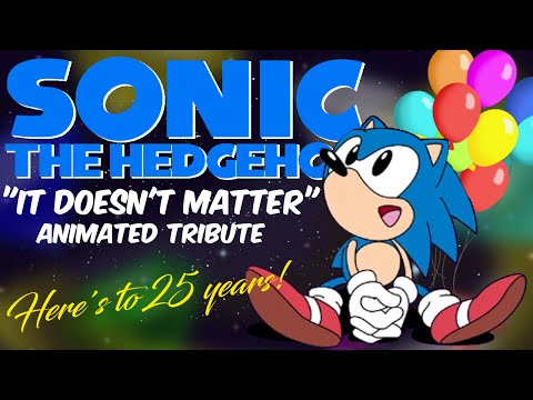 """""""It Doesn't Matter"""" Remix - Sonic 25th Anniversary Animated Tribute"""