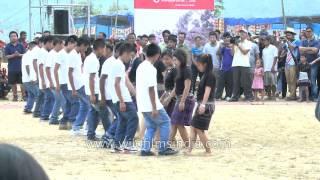 Mara men and women dance to Mizo folk song