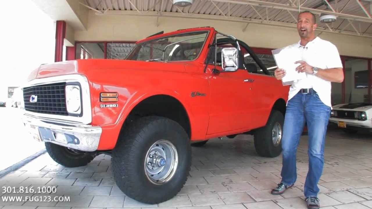 1972 Chevrolet Blazer For Sale With Test Drive Driving