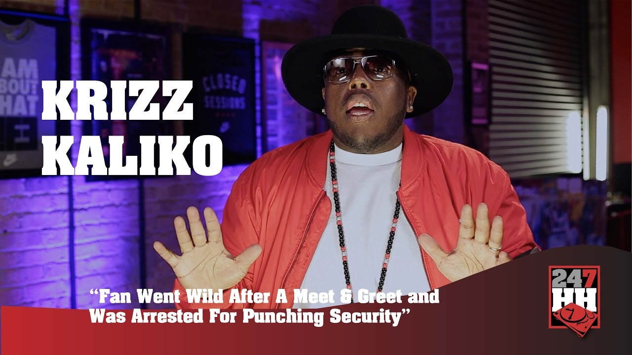Krizz Kaliko Fan Arrested For Punching Security After The Meet