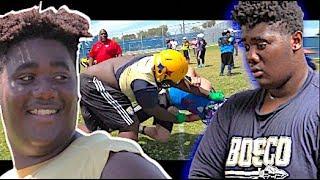 6'6 300 + 9th Grader !!! BIG MAX is Workin |  Maximus Gibbs 🔥 NetFlix Sensation | FBU Camp Spotlight