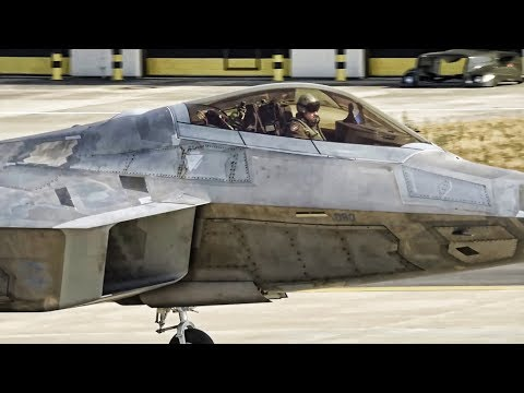 F-22 Raptors Leave