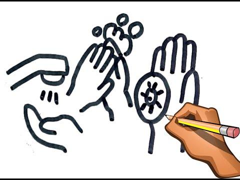 Como Dibujar La Higiene En Tiempos De Coronavirus Covid 19 Youtube