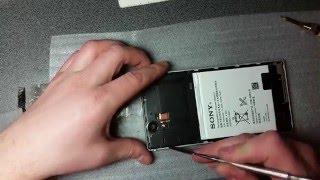 Как отклеить сенсор - Замена модульного дисплея на Sony Xperia T2 Ultra dual.