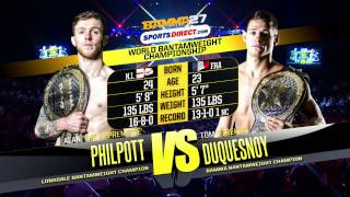 BAMMA 27: Tom Duquesnoy vs Alan Philpott (World Bantamweight Title)