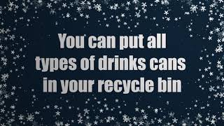 Stocking up on mixers and soft drinks this Christmas? Just rinse, shake dry and drop the empties...