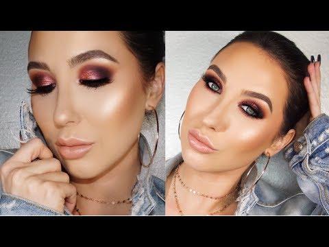Rose Gold & Purple Smokey Eye Makeup