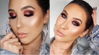 Rose Gold & Purple Smokey Eye | Jaclyn Hill