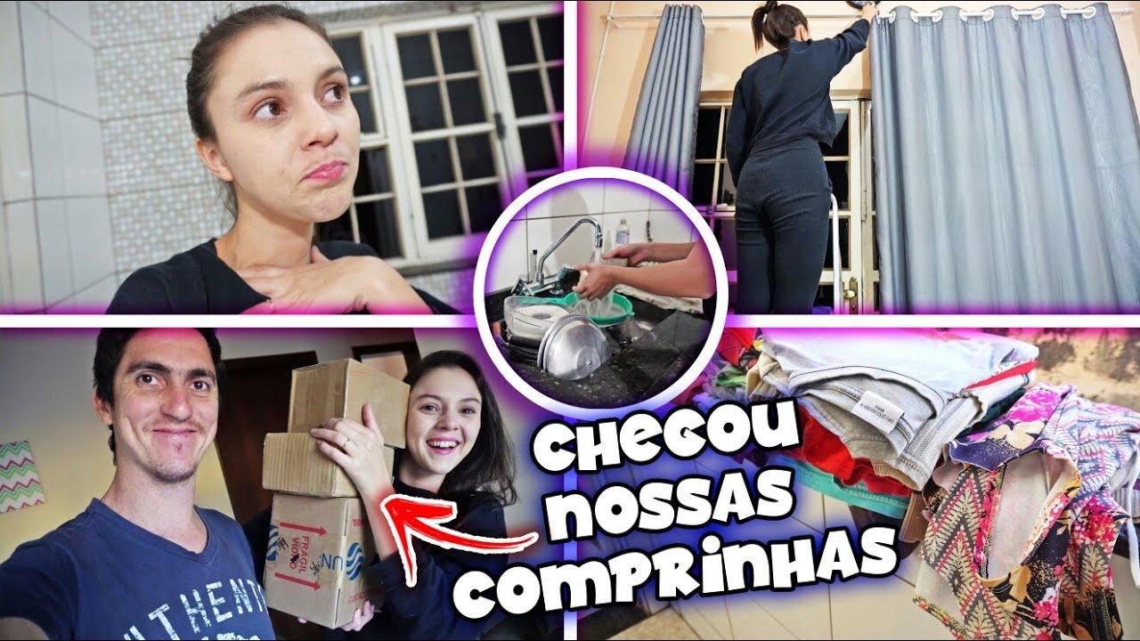 COMEÇOU A CHEGAR AS COMPRAS ONLINE | TIREI TODAS AS CORTINAS DA MNHA CASA