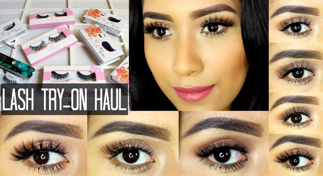 03f1e98fd00 HUGE LASH HAUL | TRY-ON 2015 | ARDELL, KOKO LASHES, LENA LASHES | GUIDE TO FALSE  LASHES - YouTube