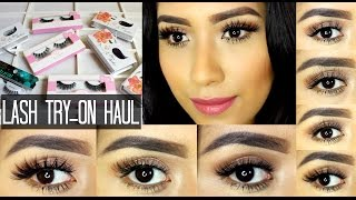 HUGE LASH HAUL | TRY-ON 2015 | ARDELL, KOKO LASHES, LENA LASHES | GUIDE TO FALSE LASHES