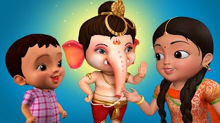 गणेशजी और खीर - Bal Ganesh Song   Hindi Rhymes for Children   Infobells