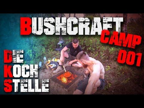 #001 - Kochstelle Ofen Übernachtung - Bushcraft Camp Survival - Deutschland (german/deutsch)