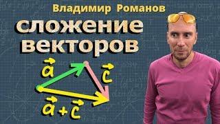 геометрия ЗАКОНЫ СЛОЖЕНИЯ ВЕКТОРОВ 8 и 9 класс