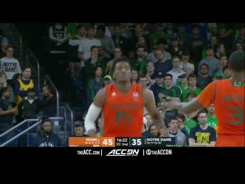 Miami vs Notre Dame College Basketball Condensed Game 2018