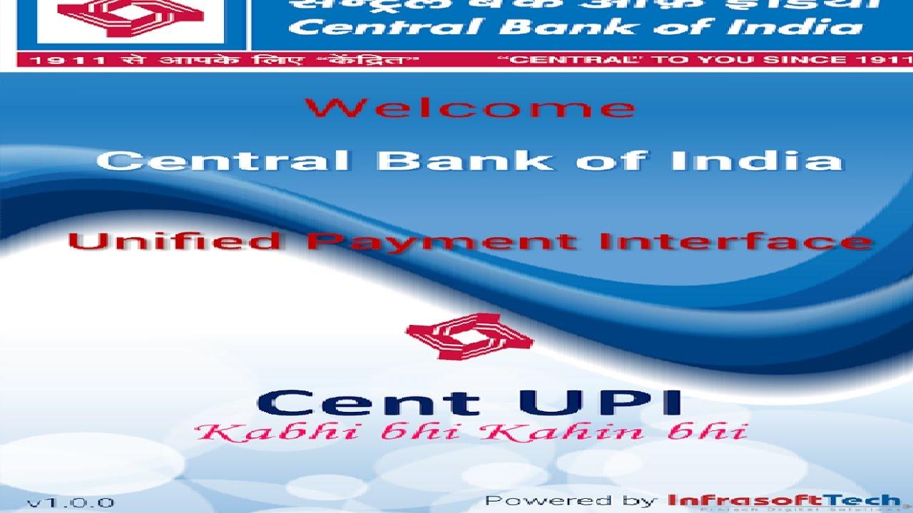 Central bank of india upi app download